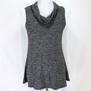 Maurices Sleeveless Top Gray Black Cowl Neck Knit